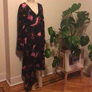 TopShop-Long Sleeve Slip Dress